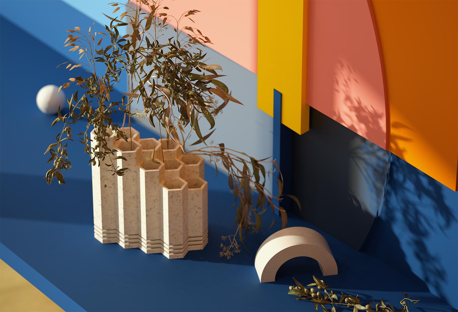Comb-vase showroom